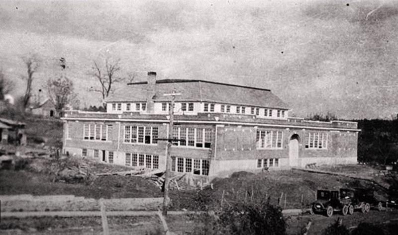 Old high school building